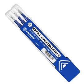 Set 3 refill inchiostro gel RiSCRIVI cancellabile 0,7mm blu OSAMA