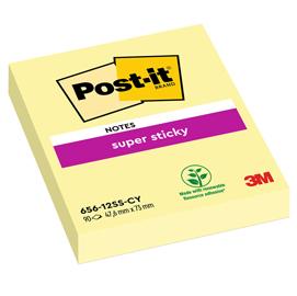 Blocco 90foglietti post-it®super sticky giallo canary™ 47.6x76mm 656-12ss-cy-eu