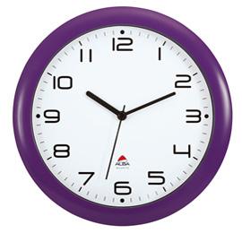 Orologio da parete hornew ø30cm viola alba
