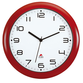 Orologio da parete hornew ø30cm rosso alba