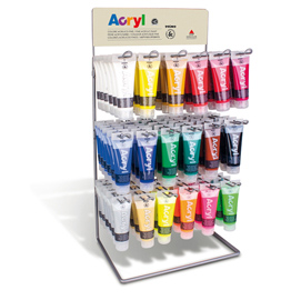 423ESP75T18 DISPLAY 108 tubo da 75ml COLORE ACRYL 18 colori ass. PRIMO