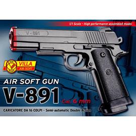 Pistola v-891 airsoft cal. 6 mm
