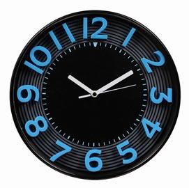 Orologio da parete ø 30,3cm 3d blu/nero methodo