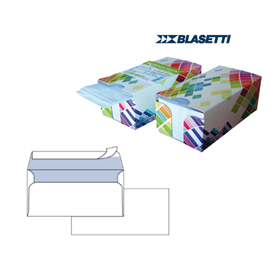 BOX DISPENSER 150 BUSTE BIANCHE 110X230MM 90GR S/FINESTRA con STRIP BLASETTI