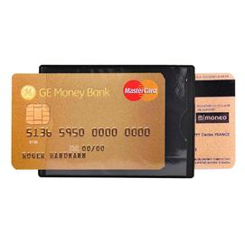 HIDENTITY® Duo 85x60mm per bancomat /carta di credito NERO Exacompta (Conf. 10)