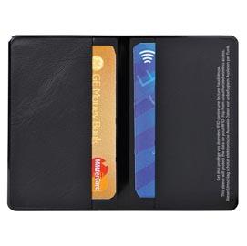 HIDENTITY® Doppio 95x60mm per bancomat /carta di credito NERO Exacompta (Conf. 10)