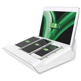 CARICATORE MULTIFUNZIONE DA TAVOLO XL 4PORTE USB BIANCO LEITZ COMPLETE