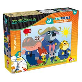 Puzzle df supermaxi 108 zootropolis lisciani