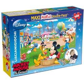 Puzzle df supermaxi 108 mickey fun fair lisciani