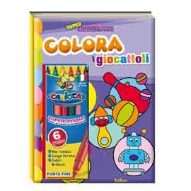Album da colorare - super coloratutto - giocattoli