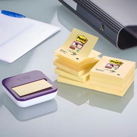 DISPENSER VAL +8 ricarche Post-it®Super Sticky Z-Notes giallo Canary 76x76mm