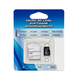 MICRO SD CARD aggiornamento100/200€ verificabanconote HT2280