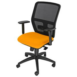 Seduta operativa ergonomica Kemper A Arancio c/bracc.reg.