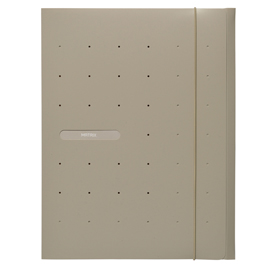 Cartellina 3L in PP c/elastico MATRIX beige 24x33cm FAVORIT