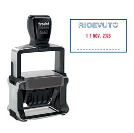 Timbro Professional 4.0 5460/PR4/L1 DATARIO + RICEVUTO autoinchiostrante TRODAT