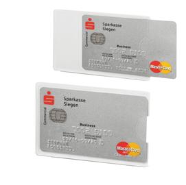 Tasca porta carte di credito argento trasp. 54x87mm RFID Secure Durable (Conf. 3)