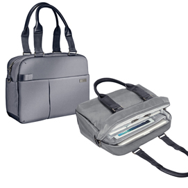 Borsa shopper smart traveller per PC 13,3� grigia Leitz Complete