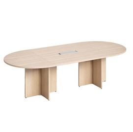 Tavolo riunione ovale 140x120cm Rovere - AgorA' Direction