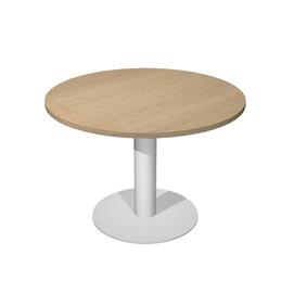 Tavolo riunione tondo Ø80cm gamba metallo Rovere - AgorA' Direction
