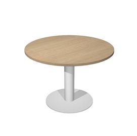 Tavolo riunione tondo Ø100cm gamba metallo Rovere - AgorA' Direction