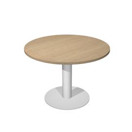Tavolo riunione tondo Ø120cm gamba metallo Rovere - AgorA' Direction
