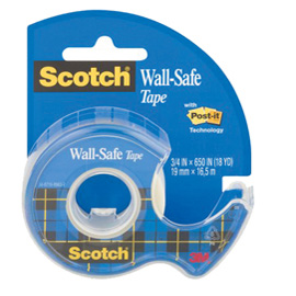 Nastro adesivo Scotch® Wall-safe 19mmX16,5mt in chiocciola 183-ISP