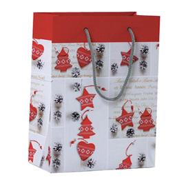 Shopper regalo SHABBY CHIC CHRISTMAS 23x30x10cm Kartos (Conf. 6)