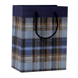 Shopper regalo SCOZZESE BLU 23x30x10cm Kartos (Conf. 6)