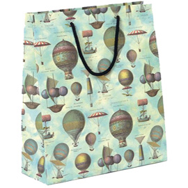 Shopper regalo AIR BALOONS 30x36x12cm Kartos (Conf. 6)
