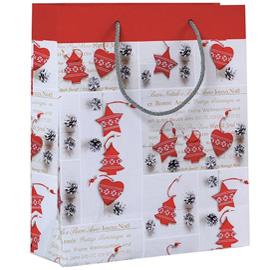 Shopper regalo SHABBY CHIC CHRISTMAS 30x36x12cm Kartos (Conf. 6)