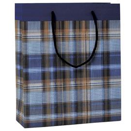 Shopper regalo SCOZZESE BLU 30x36x12cm Kartos (Conf. 6)