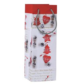 Shopper regalo SHABBY CHIC CHRISTMAS 12x35x10cm Kartos (Conf. 6)