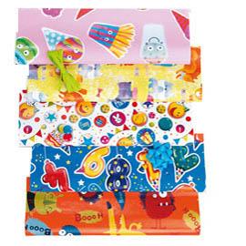 Scatola 25fg carta regalo fantasia Play Time XL 100x140cm 65gr. Bolis