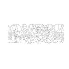 Rotolo creativo adesivo tema Parco di divertimento 30X400cm Info