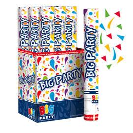 Sparacoriandoli Cannon colori assortiti gittata 8mt Big Party (Conf. 12)