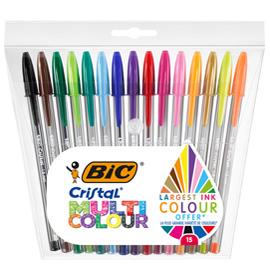 Scatola 15 penna sfera CRISTAL® MULTICOLOR 1,6mm ink ass. BIC®