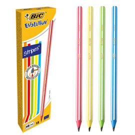 Scatola 12 matite Evolution Stripes BIC