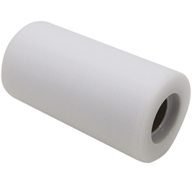 Tulle in rotolo 12,5cmx25mt bianco Big Party