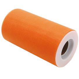 Tulle in rotolo 12,5cmx25mt arancione Big Party