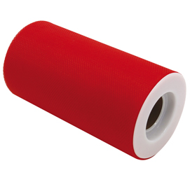 Tulle in rotolo 12,5cmx25mt rosso Big Party