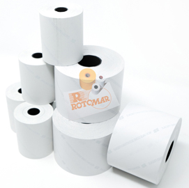 Rotolo bilancia carta termica BPA free NVCSF 60mm x 90mt Ø88mm F25mm (Conf. 4)