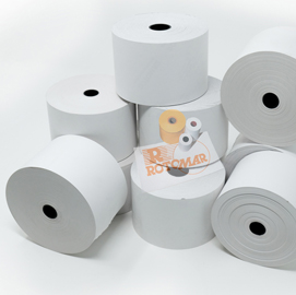 Rotolo carta termica BPA free 55gr neutra 57mmx130mt Ø100mm distr. self service (Conf. 24)