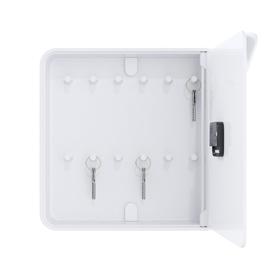 Orologio da parete con portachiavi 32x32cm bianco Paperflow