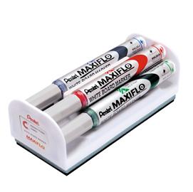 Set 4 marcatori Maxiflo MWL5S 4mm assort. + cancellino Pentel