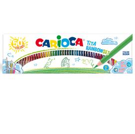 Scatola 50 pastelli Tita Rainbow colori assortiti Carioca