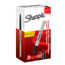 Value Pack 20+4 marcatore Sharpie nero permanente punta fine