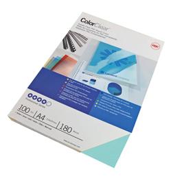 Scatola 100 copertine ColorClear PVC A4 - 180mic - Verde - GBC