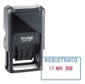 Timbro Printy 4750/1 4.0 41x24mm DATARIO+REGISTRATO autoinch. TRODAT