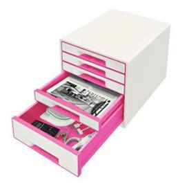 Cassettiera drawer Cabinet CUBE 5 bianco/fucsia Leitz