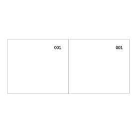 Blocco scontrino a 2 sezioni bianco 100copie numer. 5,8X13cm 160000010 SEMPER (Conf. 50)